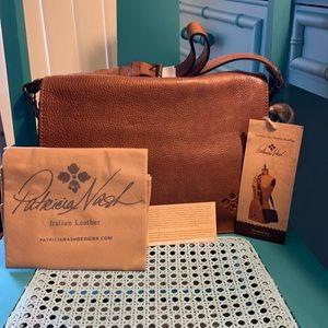 Patricia Nash Smooth Grain Leather Vito Saddle Bag